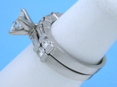 0.60 carat Princess Diamond Ring and Diamond Band