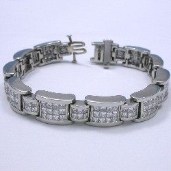 9.60 total carat weight Princess Cut diamond bracelet