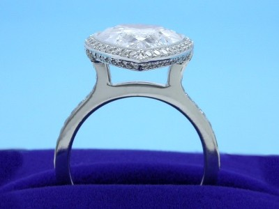 Pear Cut Diamond Engagement Ring with Bez Ambar Designer Mounting