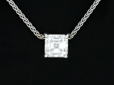 Asscher Diamond Pendant without enhancer