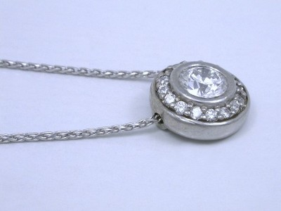 Pave Diamond Halo Pendant