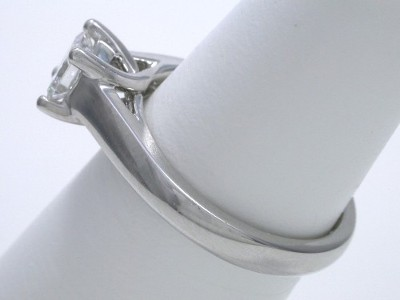 Princess Cut Diamond Ring: 0.50 carat in Trellis style mounting