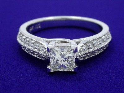 Special Offer: Princess Cut 0.67 I VS1 Diamond Ring