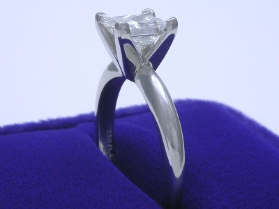 Princess Cut Diamond Ring: 1.20 carat H IF in Solitaire style mounting