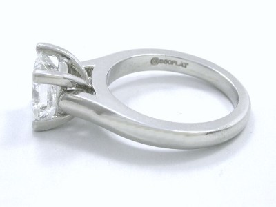 Princess Diamond Ring with Platinum Cathedral Mounting