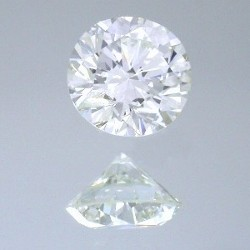 0.70 carat Round Brilliant Cut loose diamond graded K color and VS2 clarity.