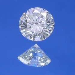1.05 carat Round Brilliant Cut loose diamond graded J color and SI1 clarity.