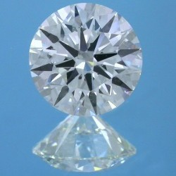 1.51 carat Round Brilliant Cut loose diamond graded F color and SI1 clarity.