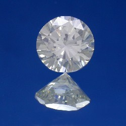 1.82 carat Round Brilliant Cut loose diamond graded H color and SI2 clarity.