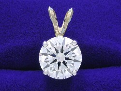2.04 carat Round Brilliant Cut diamond pendant with I color and VS2 clarity