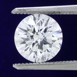 2.13 carat Round Brilliant Cut diamond graded I color and VS2 clarity