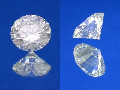 Round Brilliant Cut, 3.03 carat, H color, SI1 clarity
