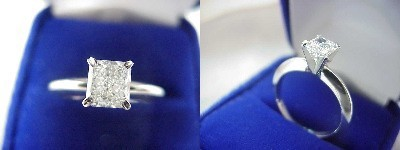 Radiant Cut Diamond Ring: 0.81 carat with 1.10 ratio in Solitaire style mounting
