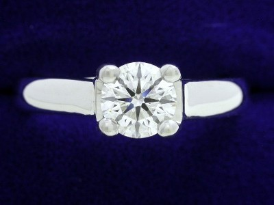 Round Diamond Ring: 0.60 carat in Leo Ingwer Designer Trellis-Style Cathedral Mounting