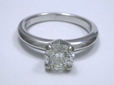 Round Diamond Engagement Ring with Solstice style mounting