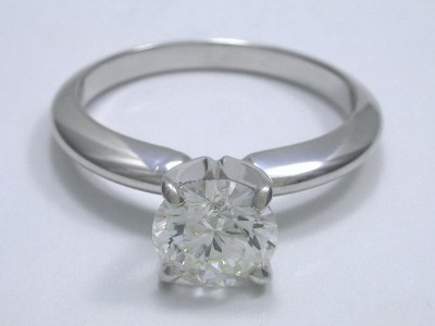 Round Diamond Ring with Four-Prong Solitaire Mounting