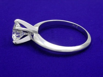Round Diamond Ring: 1.28 carat I VS2 in 4-prong Solitaire style mounting