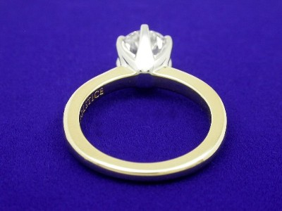 Round Diamond Ring: 1.28 carat with 18-Karat Yellow Gold and Platinum Solstice Mounting