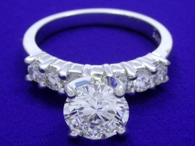 Round Diamond Ring: 1.56 carat in 0.60 tcw Leo Ingwer Mounting