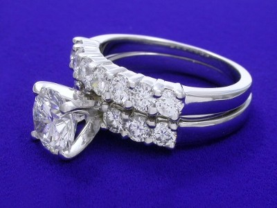 Round Diamond Ring: 1.56 carat in 0.60 tcw Leo Ingwer Mounting and matching diamond band