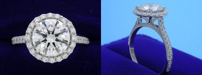 Round Cut Diamond Rings