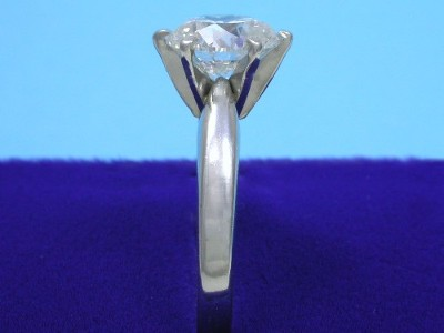 Round Diamond Ring: 2.01 carat G SI1 in 6-prong Solitaire Mounting