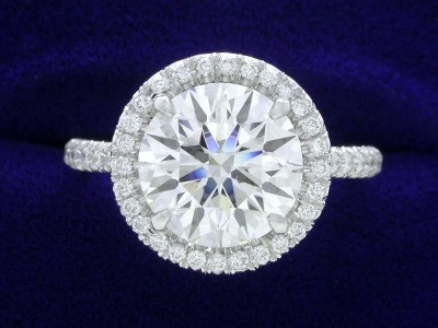 2.51-carat Round Brilliant cut diamond ring