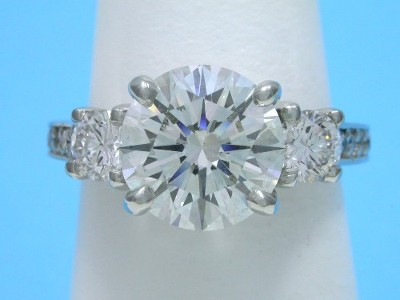 Round Diamond Ring: 2.52 carat in 0.65 tcw Leo Ingwer Mounting