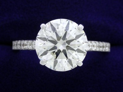 2.56 carat round diamond ring