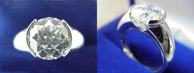 Round Diamond Ring: 2.60 carat in Michael Bondanza Mounting