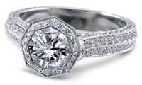 Eighty-Eight Cut Diamond Ring