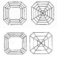 Royal Asscher Facet Pattern