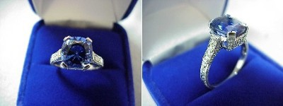 Cushion Cut 3.43 Tanzanite Richard Landi