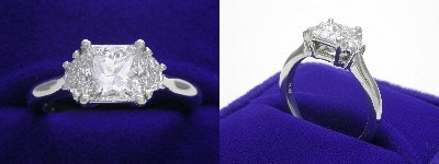 Princess Ring 1.23 ct 0.37 tcw HM