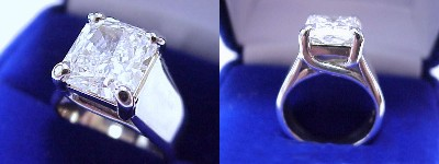 Radiant Cut 3.67 ct Trellis