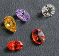 Colored Cubic Zirconia Simulated Diamonds