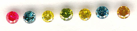 Enhanced colored diamonds