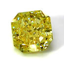 Vivid yellow radiant diamonds
