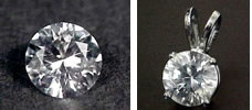 White Sapphire Simulated Diamonds