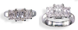 Spring Cut Diamond Rings