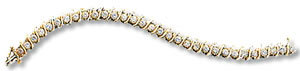 S-style tennis bracelet diamonds