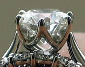 Prong set diamond rings