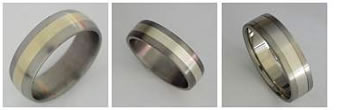 Titanium metal wedding rings